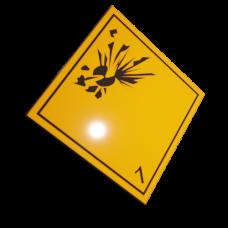 Etichete ADR suport aluminiu nr.1