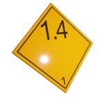 Etichete ADR suport aluminiu nr.1.4