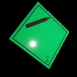 Etichete ADR suport aluminiu nr.2.2n
