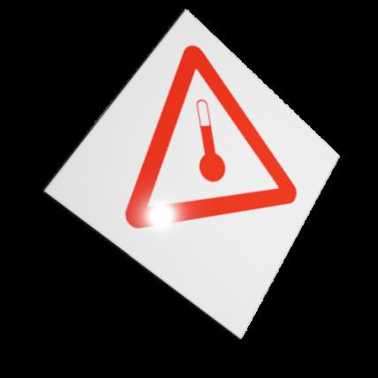 Etichete ADR suport aluminiu termometru