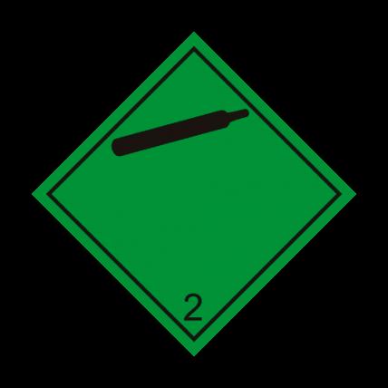 Eticheta ADR autocolanta nr.2.2.n