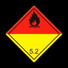 Eticheta ADR autocolanta nr.5.2