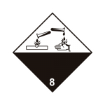 Eticheta ADR autocolanta nr.8