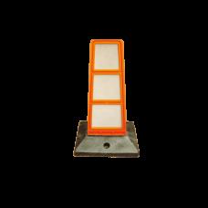 Baliza directionala Mini, 130 x 300 mm, cu suport