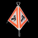 Indicator rutier pliabil Nereflectorizant cu 3 fete-fig. A33- Accident, latura de 600mm, clasa R(0)